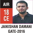 Peeyush Kr. Shrivastav, GATE 2016, RANK 18